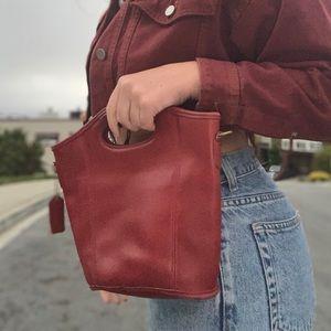 Vintage Red Leather Coach Handbag